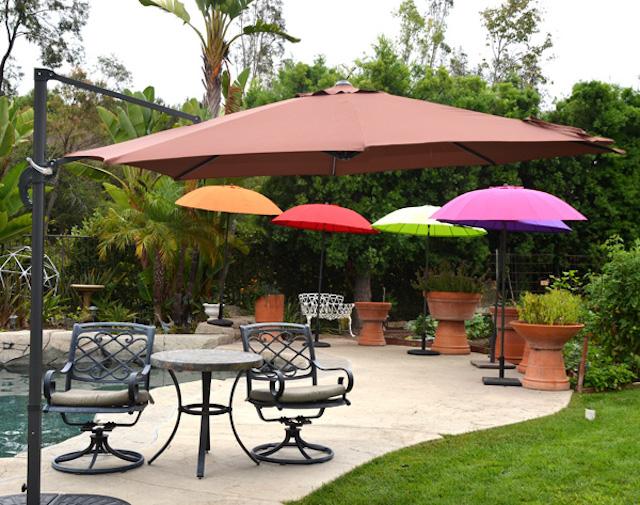 du che san vuon 2 - Dù che nắng lệch tâm ở sân vườn cafe nhà hàng - resort