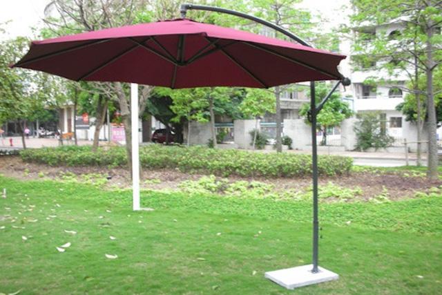 du che san vuon 7 - Dù che nắng lệch tâm ở sân vườn cafe nhà hàng - resort