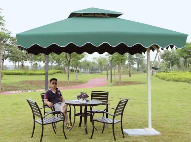 du che san vuon 8 - Dù che nắng lệch tâm ở sân vườn cafe nhà hàng - resort