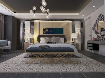phong ngu master Hinh 4 YIAI 400x300 - Thiết kế nội thất phòng ngủ master sang trọng đẳng cấp đẹp mê ly