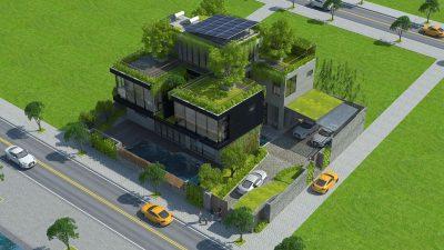 san vuon tren mai nha 4 400x225 - [17 Công trình Vườn trên mái] Nhà sử dụng phần mái làm sân vườn xanh mướt