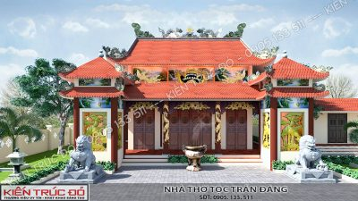 thiet ke nha tho ho toc tran VIEW2 1 400x225 - Thiết kế thi công trọn gói nhà thờ họ tộc Trần Đăng