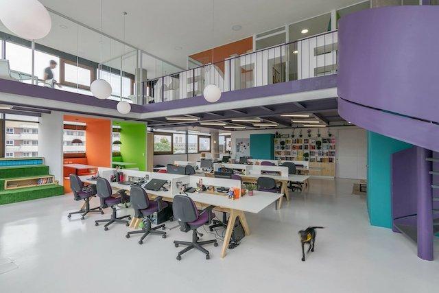 thiet ke van phong contemporary office design editora gente - Thiết kế nội thất văn phòng đẹp