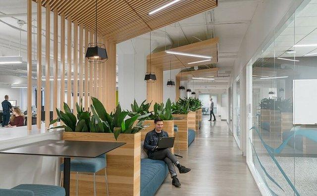 thiet ke van phong lounge area microsoft moder office interior design - Thiết kế nội thất văn phòng đẹp