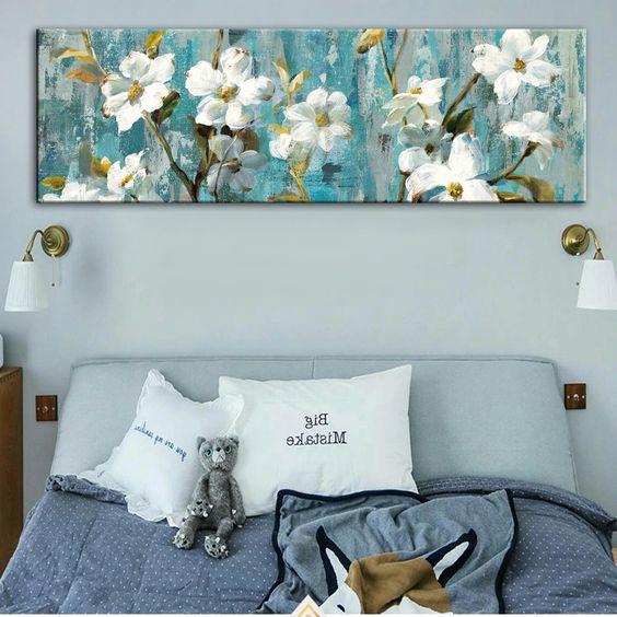 tranh treo tuong phong ngu - Vẽ tranh tường phòng ngủ đẹp ấn tượng