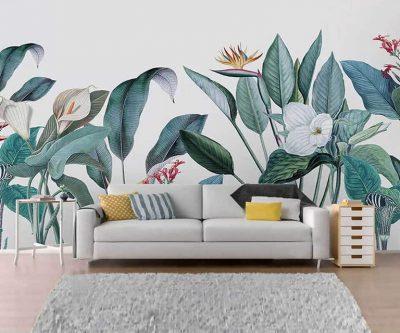 tranh tuong hoa la 400x333 - Vẽ tranh tường hoa lá đẹp ấn tượng
