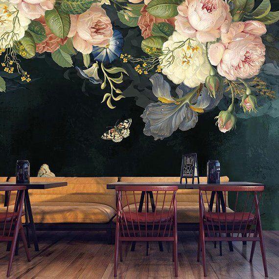 ve tranh tuong hoa hong 1 - Hoạ sĩ vẽ tranh tường hoa hồng đẹp ấn tượng