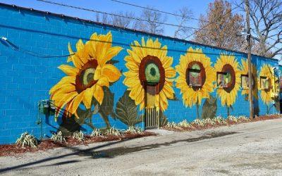 ve tranh tuong hoa huong duong 1 400x250 - Vẽ tranh tường hoa hướng dương trang trí đẹp