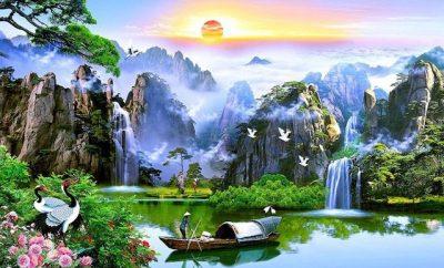 ve tranh tuong phong canh thien nhien 1 400x242 - Tranh phong cảnh đẹp