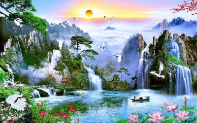 ve tranh tuong phong canh thien nhien 3 400x250 - Vẽ tranh tường phong cảnh thiên nhiên