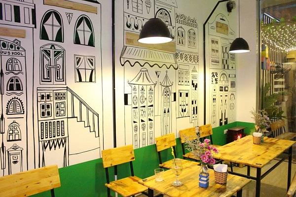ve tranh tuong quan an vat 1 - Hoạ sĩ chuyên vẽ tranh tường quán ăn vặt trang trí đẹp, hút khách