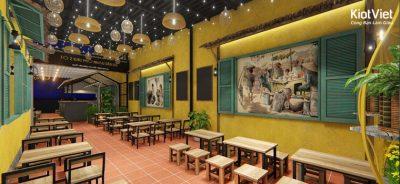 ve tranh tuong quan an vat 2 400x184 - Hoạ sĩ chuyên vẽ tranh tường quán ăn vặt trang trí đẹp, hút khách