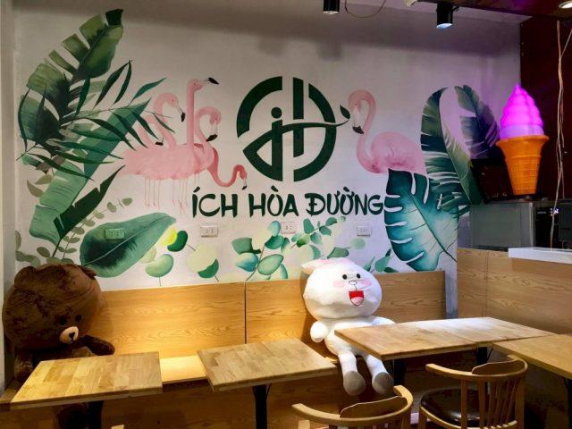 ve tranh tuong quan an vat e1622716105443 - Hoạ sĩ chuyên vẽ tranh tường quán ăn vặt trang trí đẹp, hút khách