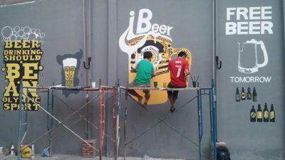 ve tranh tuong quan bia 2 400x225 - Vẽ tranh tường quán bia đẹp hút khách