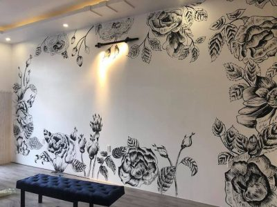ve tranh tuong trang den 400x300 - vẽ tranh tường trắng đen