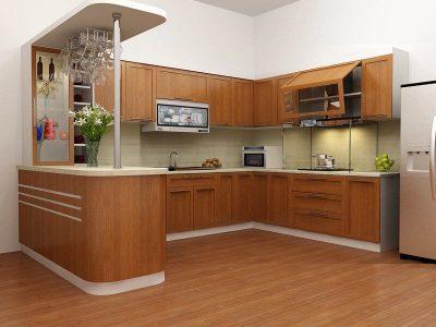 TU BEP CHU U 400x300 - Tủ bếp chữ U - lựa chọn hoàn hảo cho mọi không gian nhà bếp