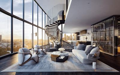 penthouses 1 400x250 - Bật mí tiêu chuẩn thiết kế nội thất căn hộ Penthouses