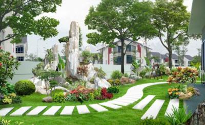 thiet ke san vuon 400x245 - Những nguyên tắc cơ bản trong thiết kế sân vườn