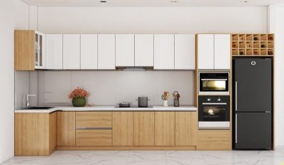 tu bep go tu nhien 400x232 - Nên lựa chọn tủ bếp 30 triệu loại nào?