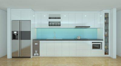 tu bep nhua 2 400x220 - Tủ bếp trắng - xu hướng chính cho không gian bếp hiện nay