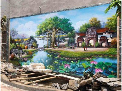 ve tranh dong que 1 400x298 - Tranh đồng quê đẹp