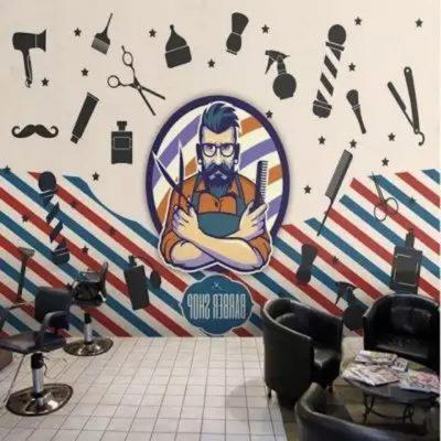 ve tranh tuong barber 5 copy 400x400 - Hoạ sĩ vẽ tranh tường barber - Salon tóc đẹp ấn tượng hút khách