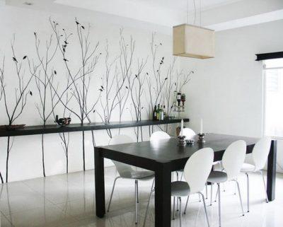 ve tranh tuong phong bep 400x321 - Vẽ tranh tường phòng ăn đẹp ấn tượng