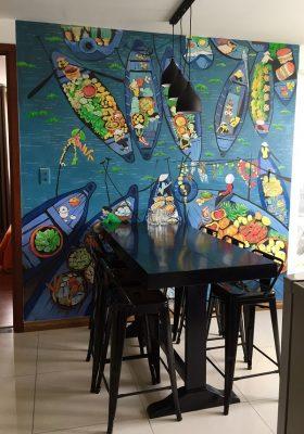 ve tranh tuong phong bep an 280x400 - Hoạ sĩ vẽ tranh tường phòng bếp đẹp ấn tượng