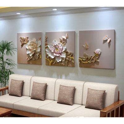 phu dieu hoa mau don 2 400x400 - Ý nghĩa khi treo tranh phù điêu hoa mẫu đơn