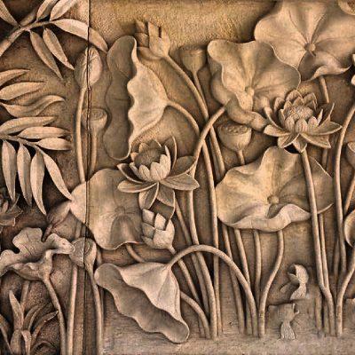 phu dieu hoa sen 1 400x400 - Phù điêu hoa sen mang ý nghĩa gì và hợp với không gian nào?