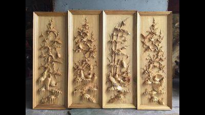 phu dieu tu quy 1 400x225 - Ý nghĩa của bộ tranh phù điêu tứ quý