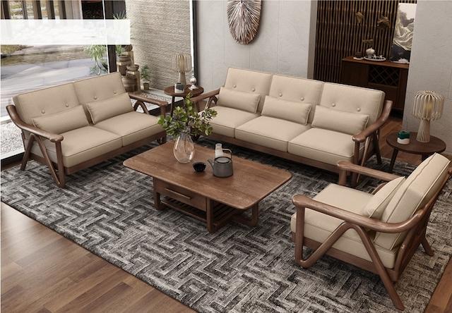 ghe sofa go oc cho phong khach 1 - Bộ bàn ghế sofa gỗ đẹp hiện đại sang trọng đẳng cấp