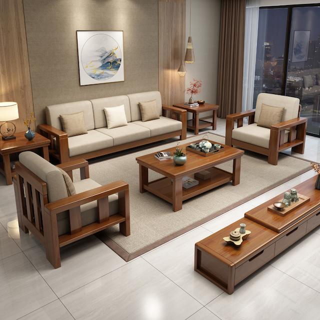 sofa go 3 - Bộ bàn ghế sofa gỗ đẹp hiện đại sang trọng đẳng cấp