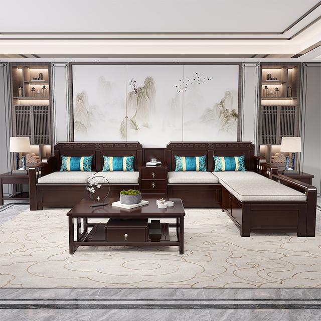 sofa go 3b - Bộ bàn ghế sofa gỗ đẹp hiện đại sang trọng đẳng cấp