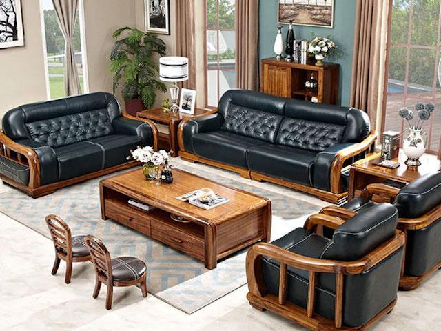 sofa go 5 - Bộ bàn ghế sofa gỗ đẹp hiện đại sang trọng đẳng cấp