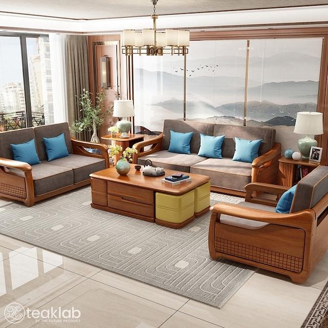 sofa go 7 - Bộ bàn ghế sofa gỗ đẹp hiện đại sang trọng đẳng cấp