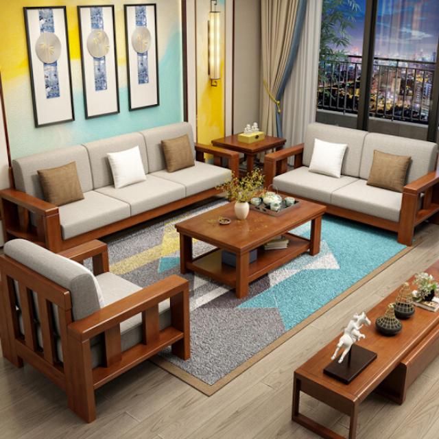 sofa go 8 - Bộ bàn ghế sofa gỗ đẹp hiện đại sang trọng đẳng cấp