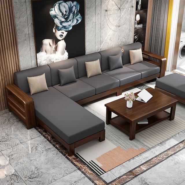 sofa go dep 1 1 - Bộ bàn ghế sofa gỗ đẹp hiện đại sang trọng đẳng cấp