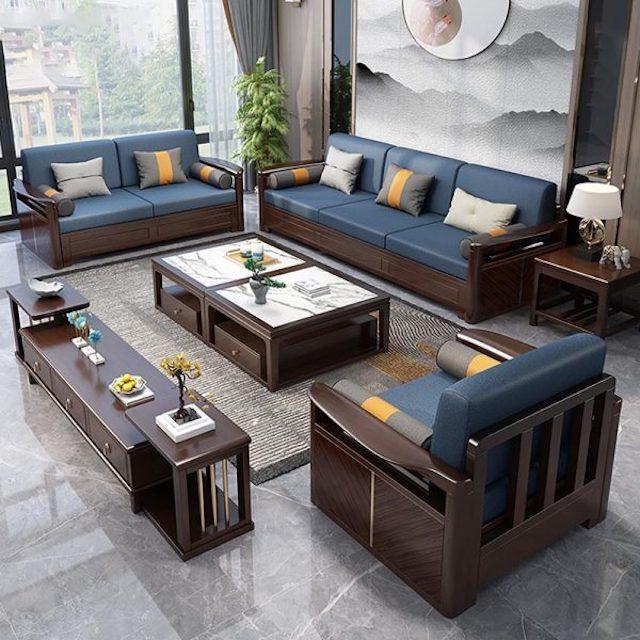sofa go dep 2 - Bộ bàn ghế sofa gỗ đẹp hiện đại sang trọng đẳng cấp