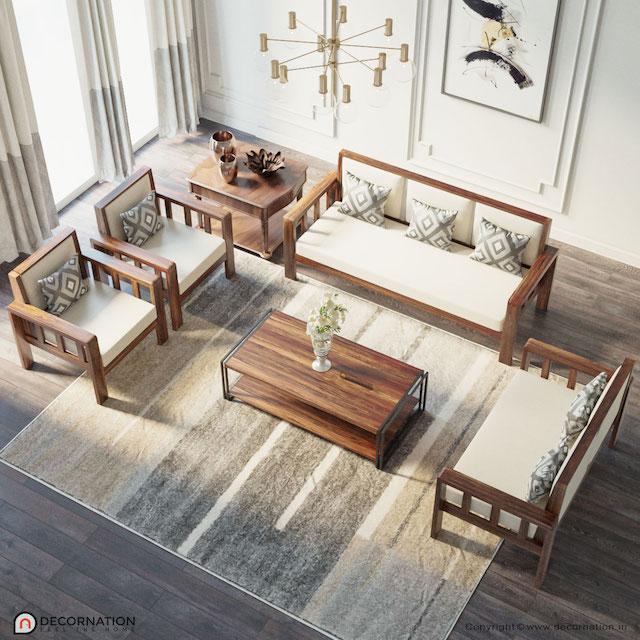 sofa go luxury 5 - Bộ bàn ghế sofa gỗ đẹp hiện đại sang trọng đẳng cấp