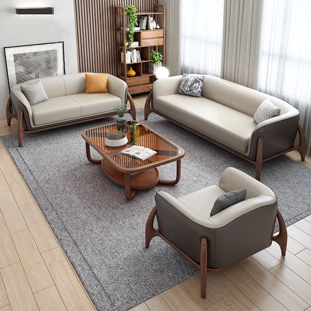 sofa go luxury 8 copy - Bộ bàn ghế sofa gỗ đẹp hiện đại sang trọng đẳng cấp