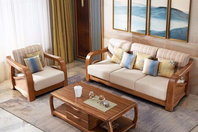 sofa go luxury 9 - Bộ bàn ghế sofa gỗ đẹp hiện đại sang trọng đẳng cấp