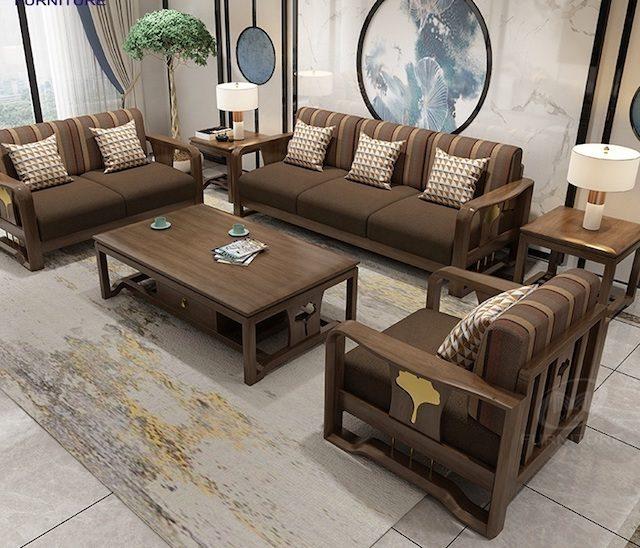 sofa go luxury e1631065799362 - Bộ bàn ghế sofa gỗ đẹp hiện đại sang trọng đẳng cấp