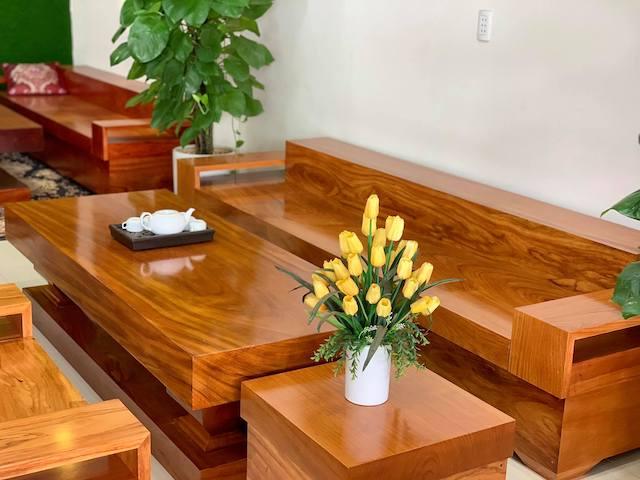 sofa go nguyen khoi 1 - Bộ bàn ghế sofa gỗ đẹp hiện đại sang trọng đẳng cấp