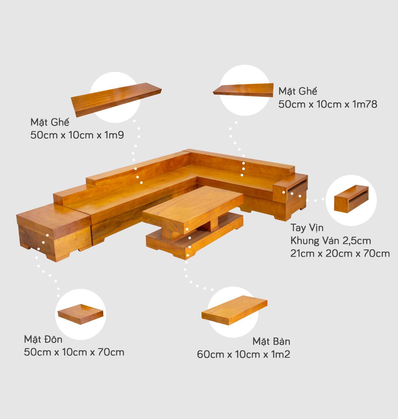 sofa go nguyen khoi 3c - Bộ bàn ghế sofa gỗ đẹp hiện đại sang trọng đẳng cấp
