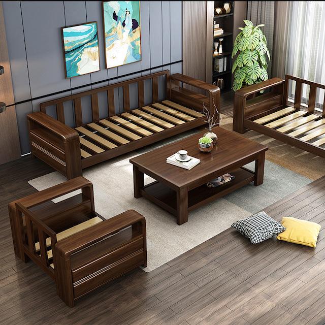 sofa go - Bộ bàn ghế sofa gỗ đẹp hiện đại sang trọng đẳng cấp