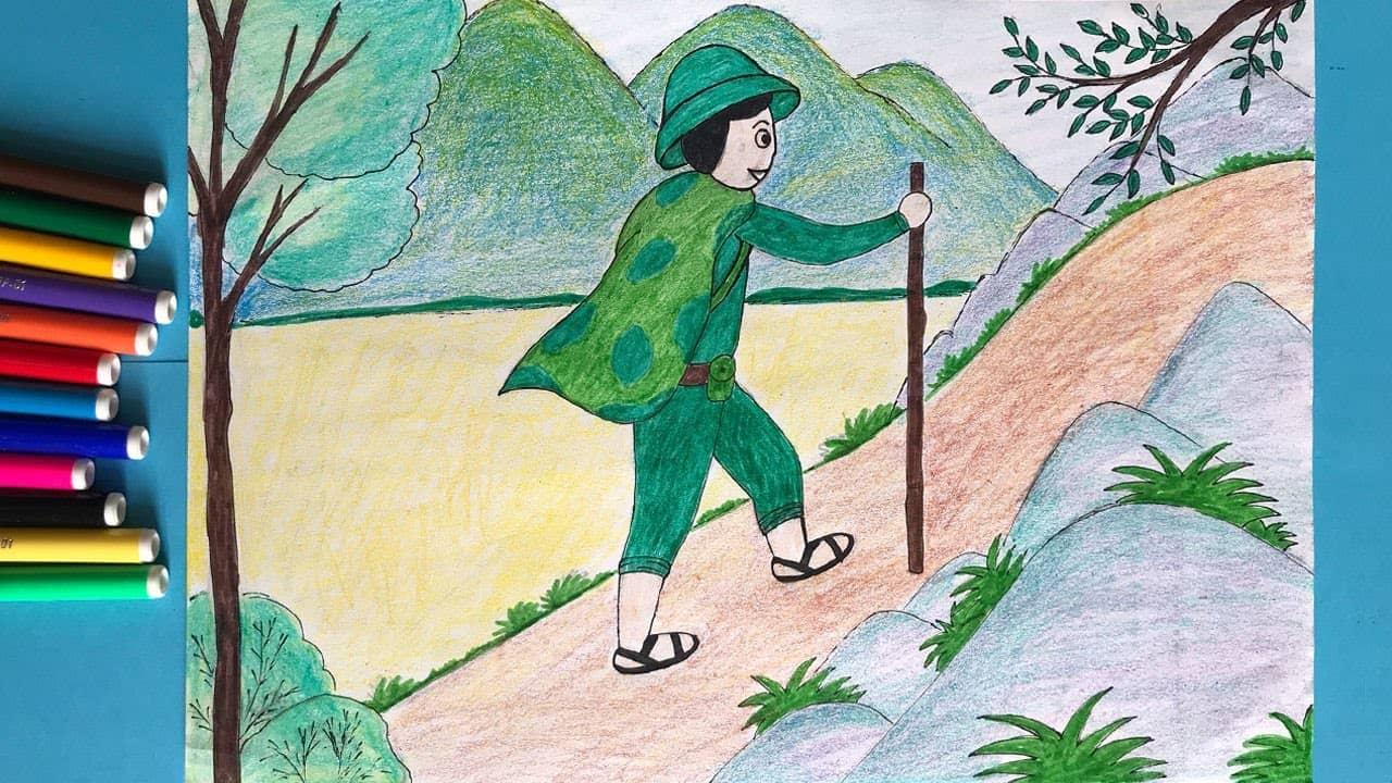 tranh chu bo doi hanh quan - Hướng dẫn cách vẽ chú bộ đội đẹp chi tiết từ A - Z và nhanh nhất