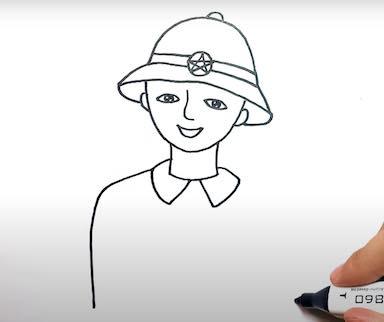 ve chu bo doi 12 - Hướng dẫn cách vẽ chú bộ đội đẹp chi tiết từ A - Z và nhanh nhất