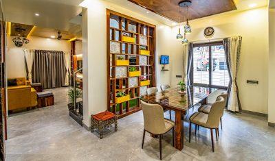 vach ngan phong khach 26 400x235 - Kinh nghiệm thiết kế thi công trang trí vách ngăn phòng khách đẹp