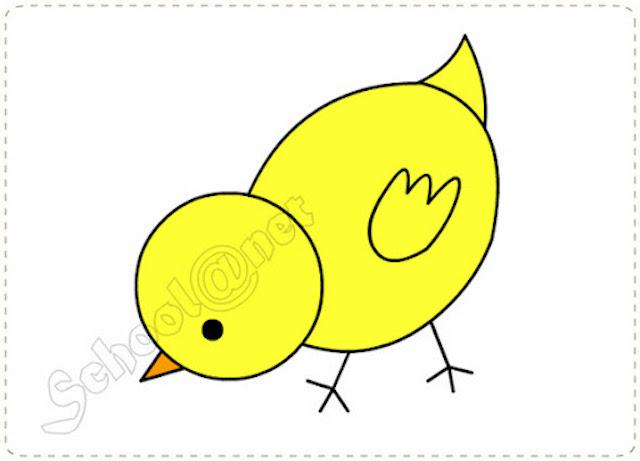 cach ve con ga con don gian 1 - Hướng dẫn cách vẽ con gà đơn giản với 8 bước cơ bản